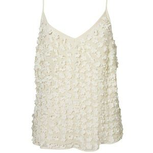 Topshop Beaded Floral Tank